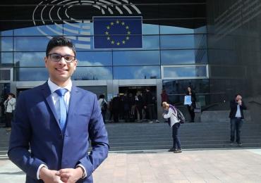 Michael Mitraš se díky organizaci ROMEA účastní Romského týdne v Bruselu.